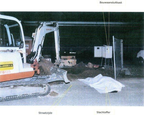 Overzichtsfoto locatie ongeluk met slachtoffer